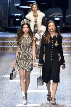 Dolce&Gabbana-ს  შემოდგომა-ზამთრის კოლექცია - მილანის მოდის კვირეული; მილანი, იტალია; 26 თებერვალი, 2017 EPA/FLAVIO LO SCALZO