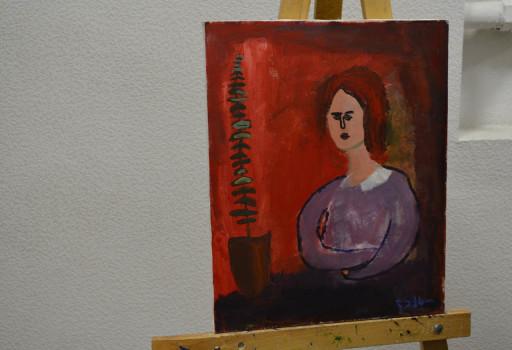 ლექსო ფოდიაშვილის ნახატი 20.03.17 ფოტო: ნეტგაზეთი/მარიამ ბოგვერაძე