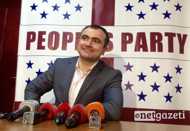 """ალექსანდრე კობაიძე, """"ხალხის პარტიის"""" თავმჯდომარე. ფოტო: გიორგი დიასამიძე/ნეტგაზეთი"""