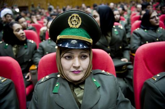ქალი ოფიცრები ავღანეთის სამხედრო აკადემიაში ფოტო: EPA/BERIS REZEE