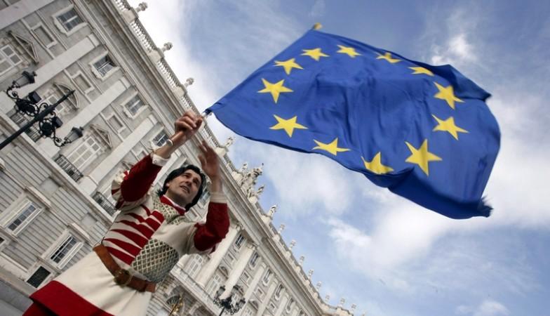 ევროკავშირის დროშა. ფოტო: EPA/J.C.HIDALGO