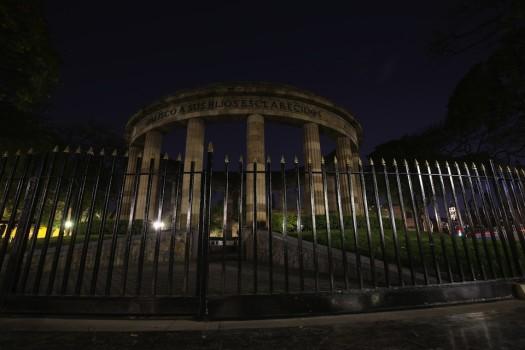 დედამიწის საათი მეხიკოში, მექსიკა, 25.03.2017. EPA/ULISES RUIZ BASURTO