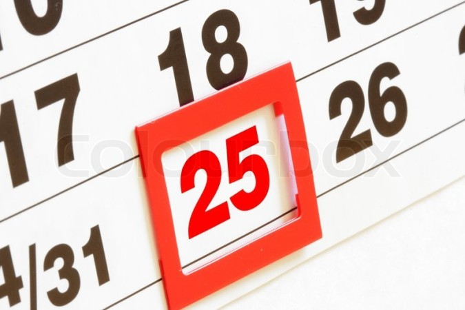 2228335-sheet-of-wall-calendar-with-red-mark-on-25-december-christmas