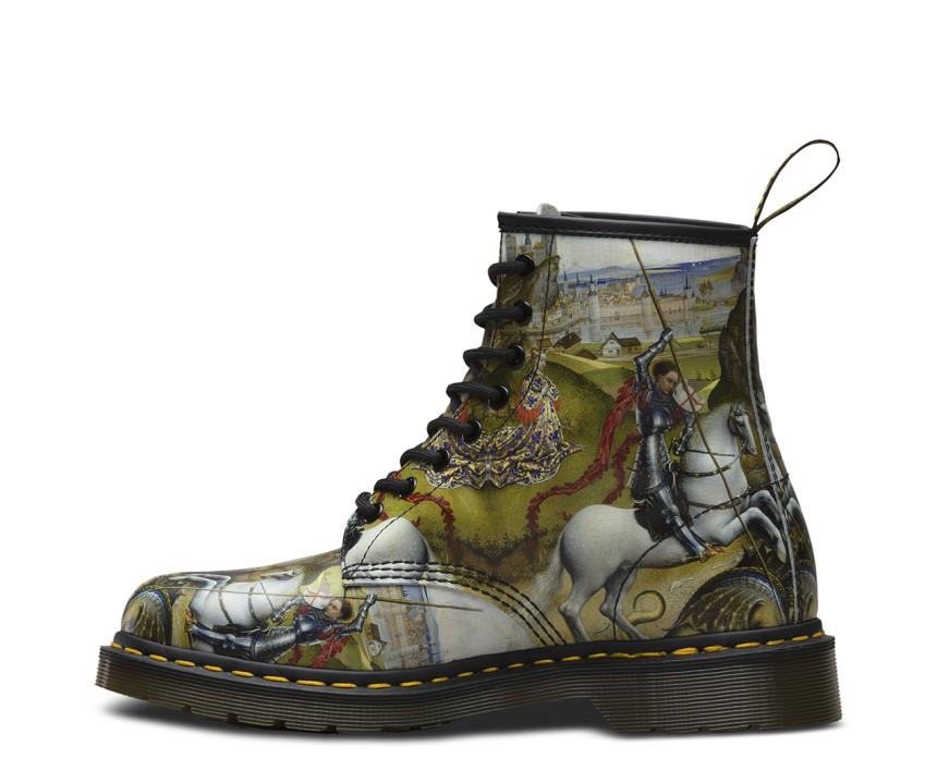 Dr.Martens -ის ფეხსაცმელი წმინდა გიორგის გამოსახულებით