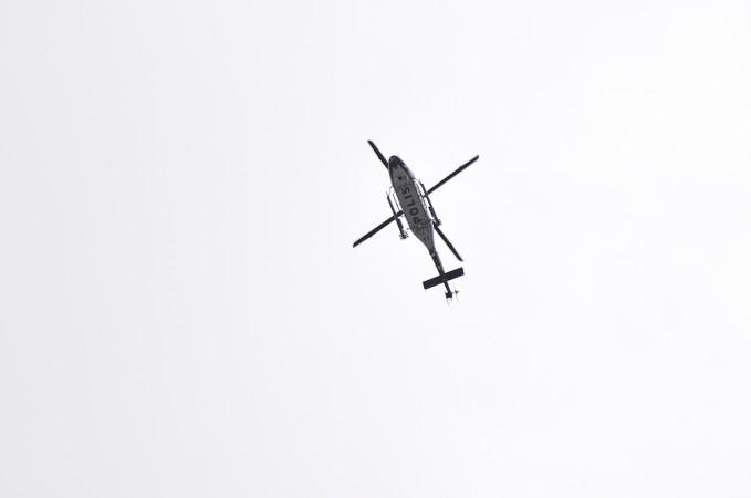 პოლიციის ვერტმფრენები დაფრინავენ სტოკჰოლმში თავდასხმის შემდეგ , 07 April 2017. EPA/NOELLA JOHANSSON SWEDEN OUT