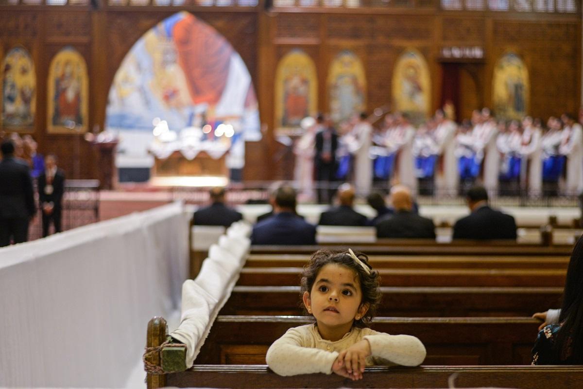 ეგვიპტური, კოპტური ეკლესია კაიროში 15.04.17 ფოტო: EPA/MOHAMED HOSSAM