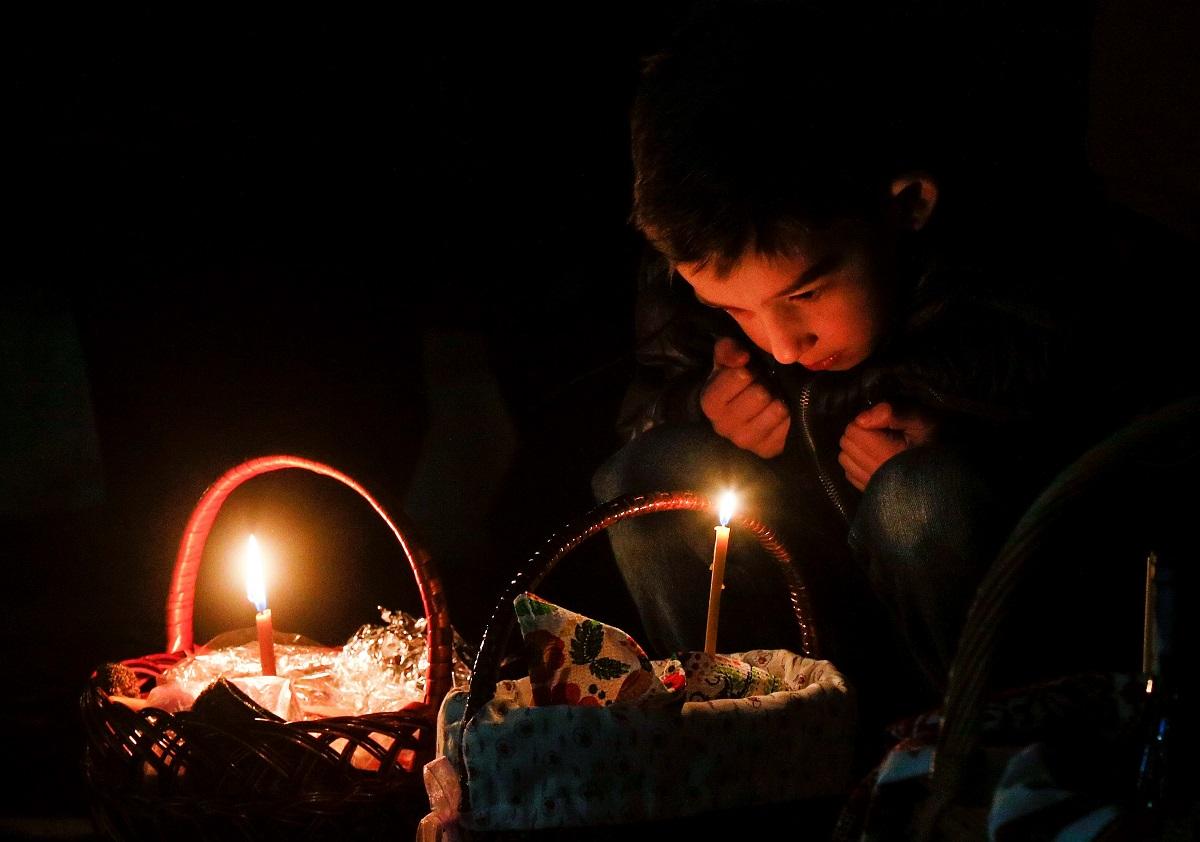 სამების ტაძარი კიევში, უკრაინა 16.04.17 ფოტო: EPA/SERGEY DOLZHENKO