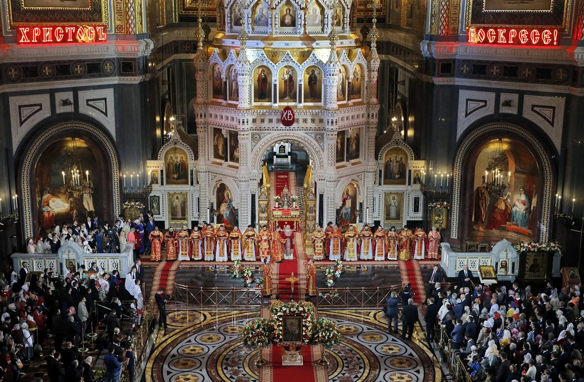 მოსკოვის საკათედრო ტაძარი, რუსეთი 16.04.17 ფოტო: EPA/YURI KOCHETKOV