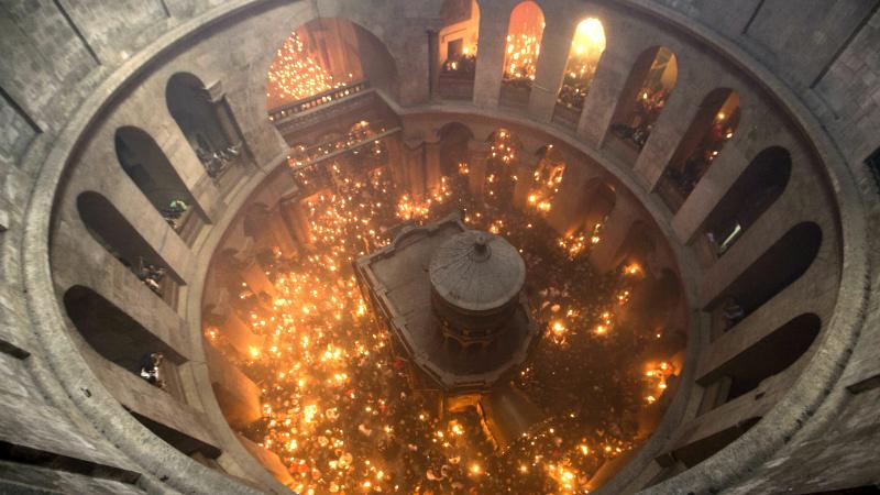 ცეცხლის გადმოსვლა იერუსალიმში © EPA 11.04.2015