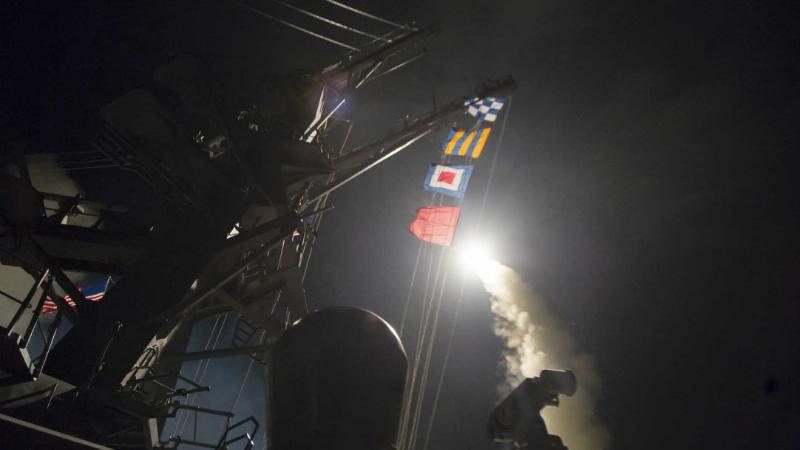 აშშ-ს საჰაერო თავდასხმა სირიაში © EPA/SEAMAN FORD WILLIAMS