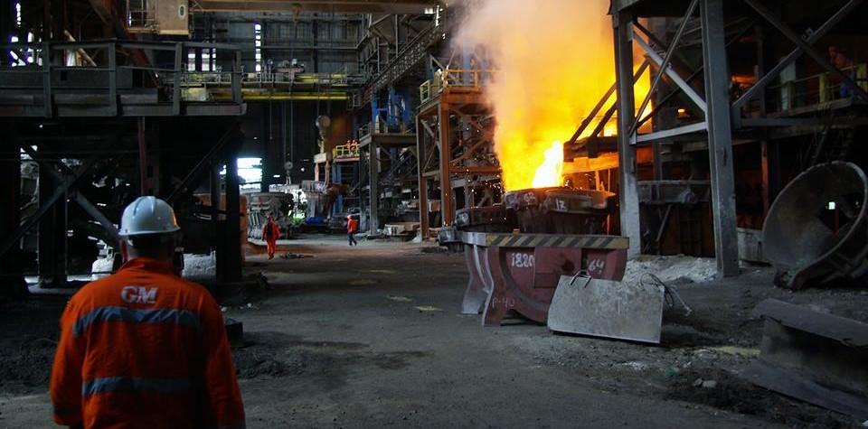 """""""ჯორჯიან მანგანეზის"""" საწარმო. ფოტო: კომპანიის ფეისბუკი"""