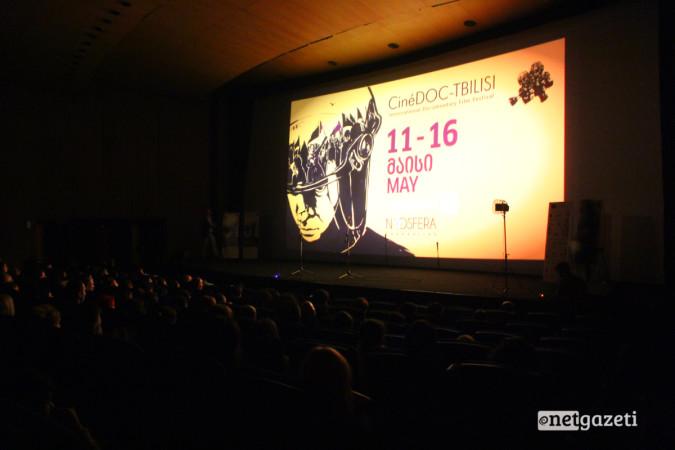 კინოფესტივალ CineDoc თბილისის გახსნა 11.05.17 ფოტო: ნეტგაზეთი/გუკი გიუნაშვილი