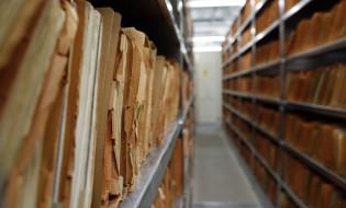 შტაზის საარქივო მასალები ბერლინის მუზეუმიდან. 25 წელი გავიდა შტაზის საარქივო დოკუმენტების პირველად გახსნიდან. 2017წ. EPA/FELIPE TRUEBA