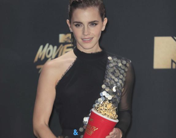 ემა უოტსონი პირველი მსახიობი გახდა, ვინც MTV-ის გენდერულად ნეიტრალური ჯილდო მიიღო. ფოტო: EPA
