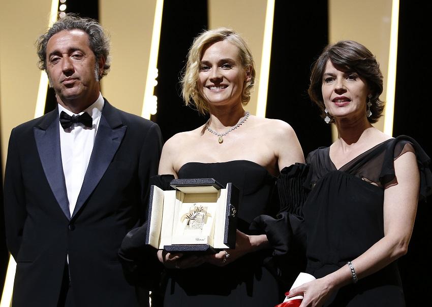 წლის საუკეთესო მსახიობი ქალი - დაიანა კრუგერი 28.05.17 ფოტო: EPA/SEBASTIEN NOGIER