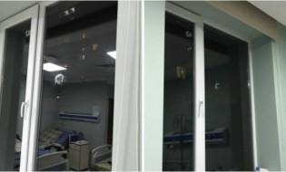 ინფექციური საავადმყოფოს ფანჯარა. ფოტო: საზოგადოებრივი მაუწყებელი