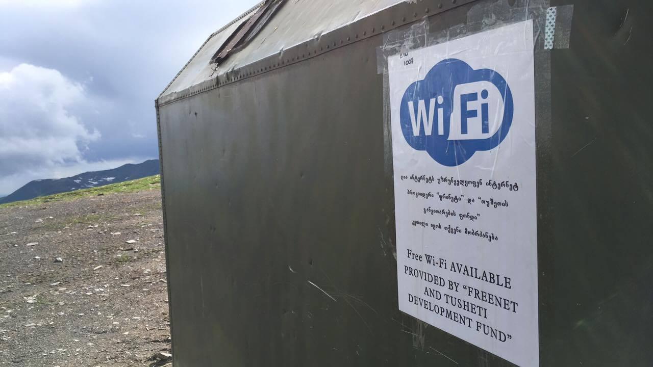 თუშეთში, აბანოს უღელტეხილზე Wi-Fi სიგნალის უფასო მიმღები დამონტაჟდა