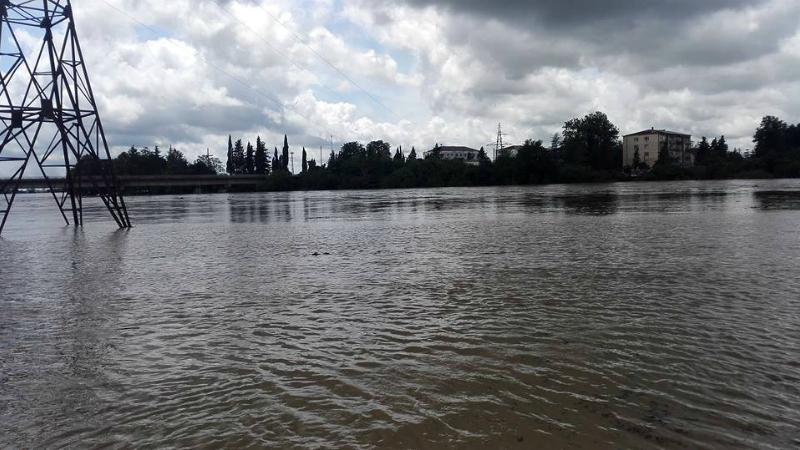 წყალდიდობა ხობში. 12.06.2017 ფოტო: ხობის მუნიციპალიტეტის გამგეობა