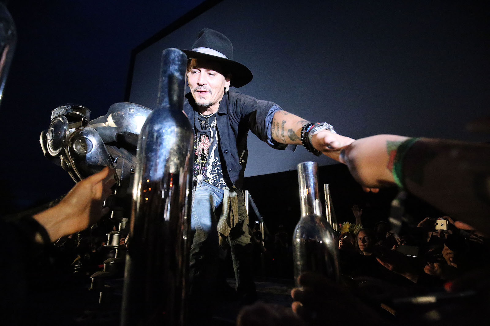 ჯონი დეპი მონაწილეობს Cinemageddon-ის ღონისძიებაში, რომელიც ფესტივალის ნაწილია © The EPA/NIGEL RODDIS