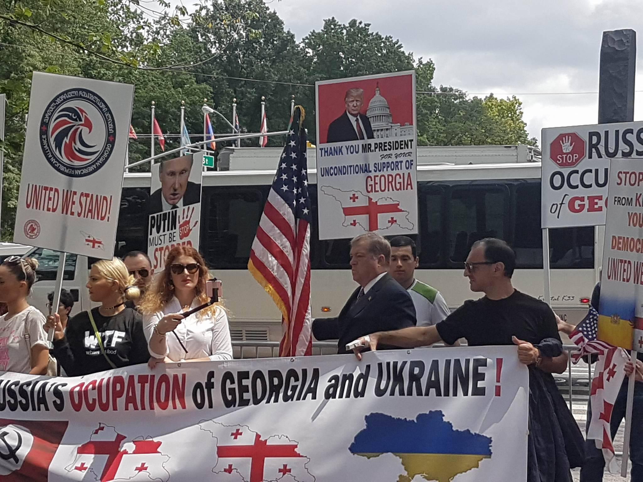 Stop Russia - აქცია ნიუ იორკში, აშშ. ფოტო:  ირაკლი გაბუნია