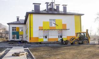 მშენებარე რუსულენოვან საბავშვო-ბაღი ახალგორში; ფოტო: sputnik
