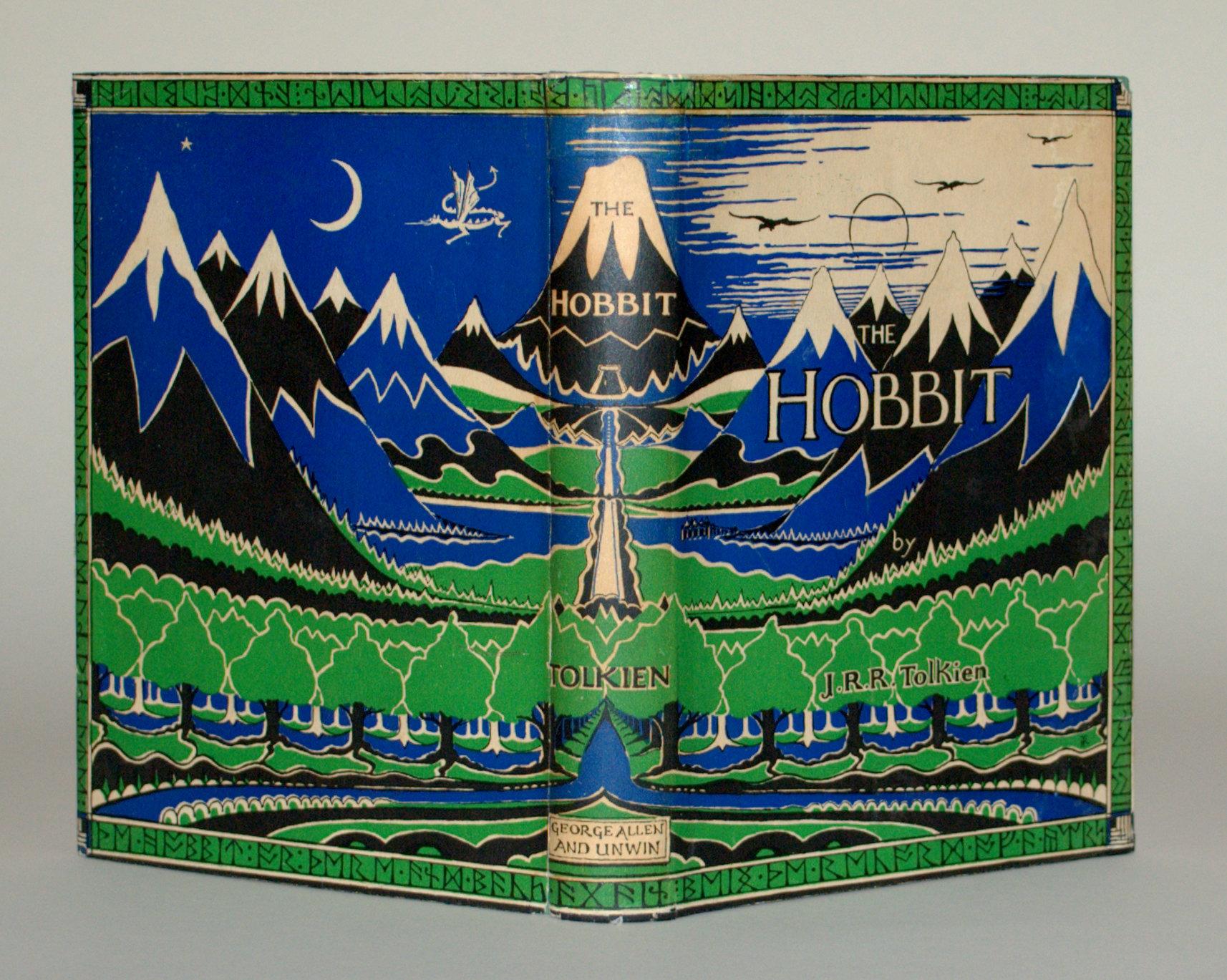 "Collectors item j. R. R tolkien's ""the hobbit"" original 1967 print."