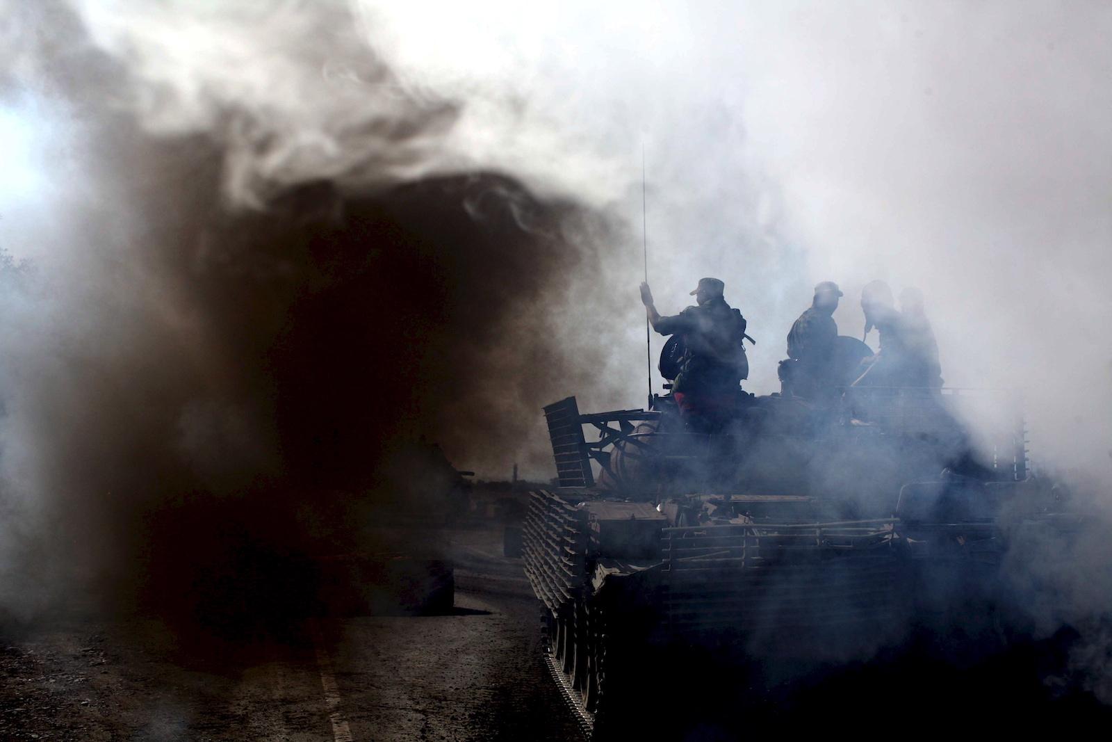რუსეთის ჯარები გორიდან და იგოეთიდან ცხინვალისკენ ბრუნდებიან © EPA/PAVEL WOLBERG