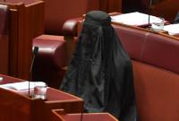 """ავსტრალიის სენატორი პარტია """"One Nation-ს"""" ლიდერი პოლინ ჰენსონი 17.08.2017 © EPA/LUKAS COCH"""