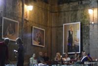"""თბილისში, გერმანულ-ქართული ფესტივალი """"კამერა ობსკურა ბერლინი X თბილისი""""  გერმანელი ფოტოგრაფისა და მსახიობის, მარგარიტა ბროიხის ფოტოგრამოფენით გაიხსნა. 19.09.17 ფოტო: ნეტგაზეთი /  მარიამ ბოგვერაძე"""