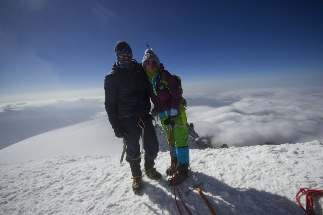 მყინვარწვერი, ზღვის დონიდან 5047მეტრზე ,25 აგვისტო, ფოტო: ზაზა ბურჯანაძე