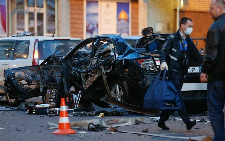 კიევში ავტომობილის აფეთქების შედეგად თემურ მახაური გარდაიცვალა 28.09.17 ფოტო: EPA-EFE/SERGEY DOLZHENKO