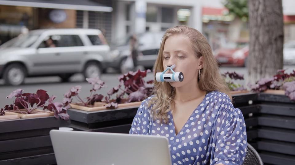 Treepex, მოწყობილობა, რომელიც სუფთა ჰაერს გამოიმუშავებს. ფოტო სარეკლამო რგოლიდან