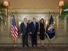 ოფიციალური მიღება აშშ-ის პრეზიდენტ დონალდ ტრამპისა და მისი მეუღლის მელანია ტრამპის სახელით. 21.09.2017. ფოტოს წყარო: პრემიერის ფეისბუკის გვერდი