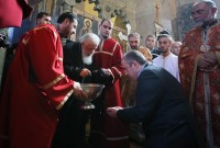 საქართველოს მართლმადიდებელი ეკლესიის პატრიარქი ილია მეორე და პრემიერ-მინისტრი გიორგი კვირიკაშვილი