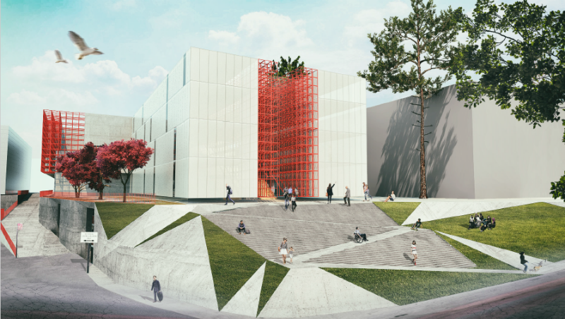 """საზოგადოებრივი მაუწყებლის ახალი შენობის დიზაინი ცნობილია. ფოტო: """"თბილქალაქპროექტი."""""""