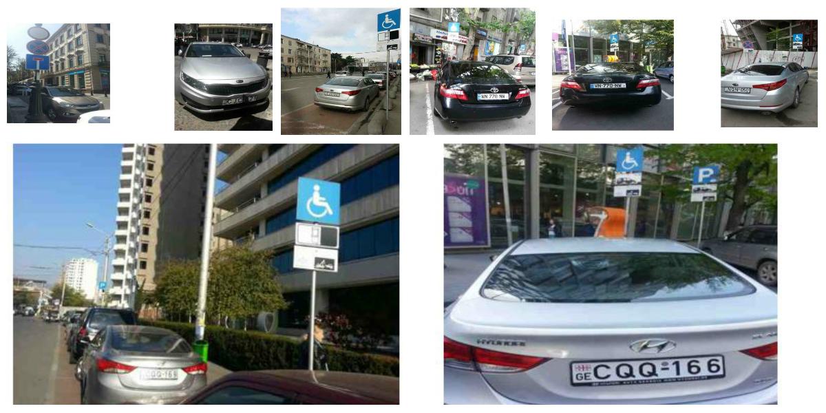 თბილისის საკრებულოს დეპუტატების ავტომობილები შშმ პირებისთვის განკუთვნილ პარკირების ადგილებზე © IDFI