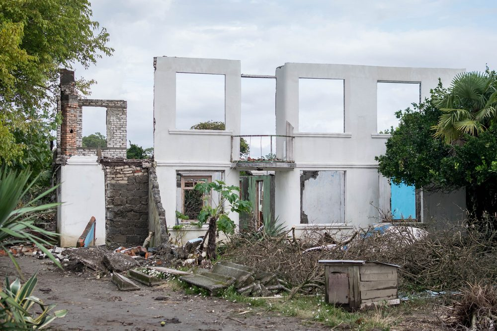 სახლი, რომელიც ანაკლიის ღრმაწყლოვანი პორტის საპროექტო ზონაში მოექცა. ფოტო: ნეტგაზეთი/ქეთი მაჭავარიანი