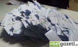 საარჩევნო ბიულეტენები. არჩევნები 2017.  21 ოქტომბერი, 2017, თბილისი, საქართველო. ფოტო: ნეტგაზეთი/მარიამ ბოგვერაძე