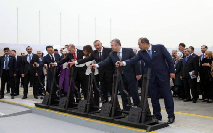 ბაქო-თბილისი-ყარსის რკინიგზის გახსნა. ფოტო: საქართველოს პრემიერ-მინისტრის ადმინისტრაცია