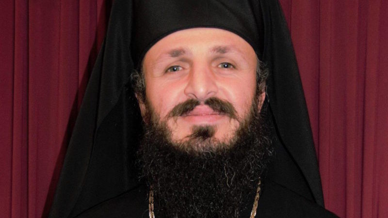 ეპისკოპოსი საბა კიევის მიტროპოლიტ ეპიფანეს აღსაყდრებას ულოცავს