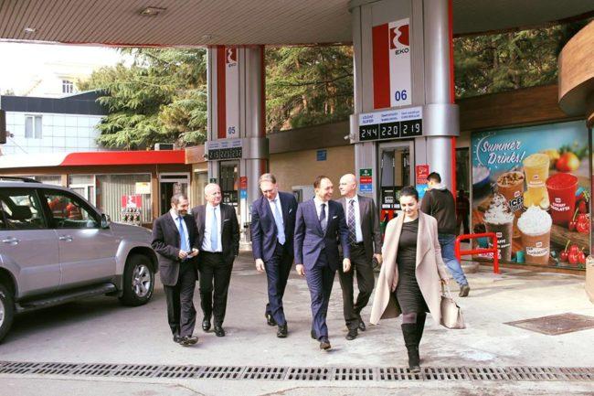 """""""საბერძნეთის პეტროლიუმის"""" დელეგაცია """"ეკოს"""" ახლადგახსნილ სადგურს ეწვია"""