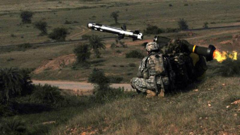 ჯაველინის ტანკსაწინააღმდეგო სისტემა მოქმედების დროს. ფოტო: Military.com