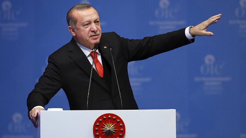 "13.12.17 თურქეთის პრეზიდენტი ერდოღანი ""ისლამური თანამშრომლობის ორგანიზაციის"" სხდომაზე. ფოტო: EMRAH YORULMAZ / ANADOLU / POOL"
