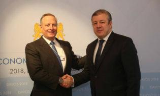პრემიერის შეხვედრა ევროკომისიის ვიცე-პრეზიდენტთან. ფოტო: პრემიერ-მინისტრის პრესსამსახური
