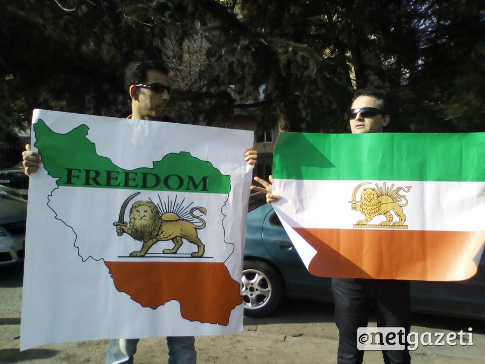 აქცია თბილისში, ირანის საელჩოსთან. 07.02.18