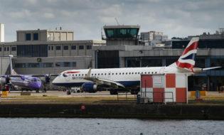 London City Airport. ფოტო: EPA/ANDY RAIN