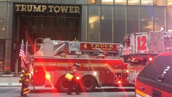 """ნიუ-იორკში """"ტრამპ თაუერს"""" ცეცხლი გაუჩნდა"""