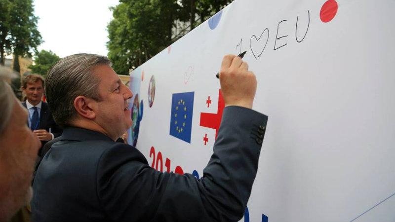 პრემიერის ცნობით, EU-საქართველოს ახალი, უმაღლესი დონის ფორმატი შეიქმნება