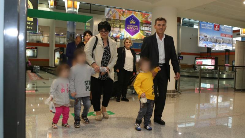საქართველოში დაბრუნებული ბავშვები. ფოტო: იუსტიციის სამინისტრო