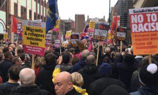 ანტიფაშისტური მარში ლივერპულში. ფოტო: Liverpool Echo